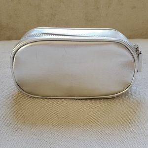 Silver Bare Minerals Cosmetic Bag